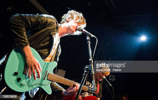 Jordan Gatesmith from Howler performs at La Fleche d'Or on February 8 2012 in Paris France