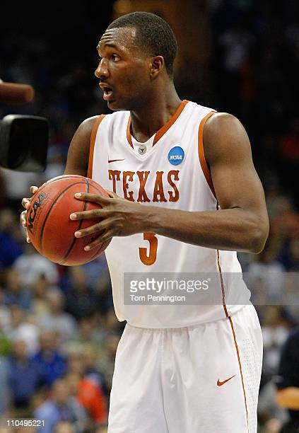 Jordan Hamilton of the Texas Longhorns reacts at the end of their 7069 loss to the Arizona Wildcats in the third round of the 2011 NCAA men's...