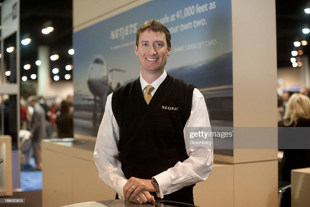 Jordan Hansell, chief executive officer of NetJets Inc., stands for a portrait during the Berkshire Hathaway Inc. shareholders meeting in Omaha, Nebraska, U.S., on Saturday, May 4, 2013. Warren Buffett's Berkshire Hathaway Inc.'s cash hoard hit a record as first-quarter profit jumped 51 percent on gains from equity-linked derivatives and insurance operations. Photographer: Daniel Acker/Bloomberg via Getty Images