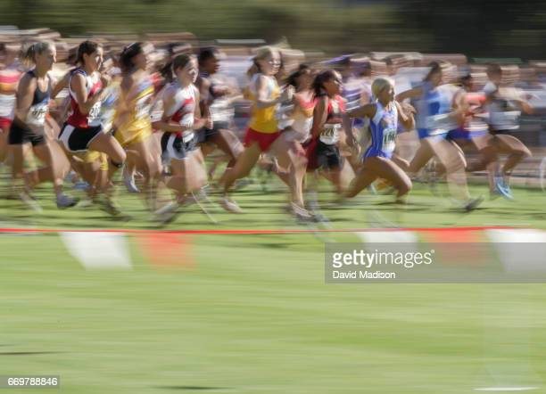 Jordan Hasay of Mission Prep High School runs in the Stanford Invitational Cross Country Meet on September 24 2005 at Stanford University in Palo...