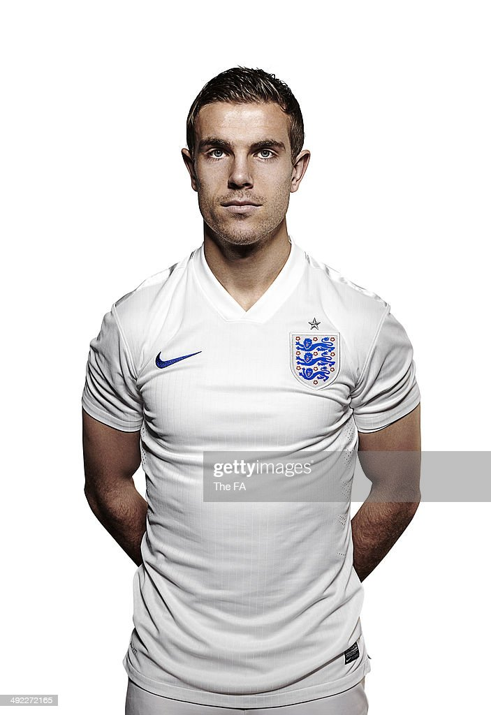 <a gi-track='captionPersonalityLinkClicked' href=/galleries/search?phrase=Jordan+Henderson&family=editorial&specificpeople=4940390 ng-click='$event.stopPropagation()'>Jordan Henderson</a> of England poses for a portrait during an England Football Squad Portrait session ahead of the 2014 World Cup in Brazil.