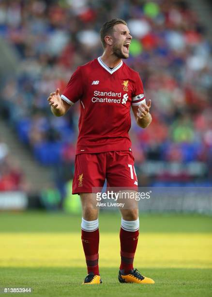 Jordan Henderson of Liverpool during a preseason friendly match between Tranmere Rovers and Liverpool at Prenton Park on July 12 2017 in Birkenhead...