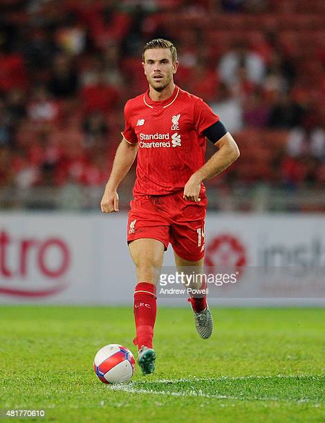 Jordan Henderson of Liverpool during the international friendly match between Malaysia XI and Liverpool FC at Bukit Jalil National Stadium on July 24...