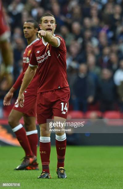 Jordan Henderson of Liverpool during the Premier League match between Tottenham Hotspur and Liverpool at Wembley Stadium on October 22 2017 in London...