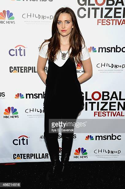 Jordan Hewson attends VIP Lounge at the 2014 Global Citizen Festival to end extreme poverty by 2030 in Central Park on September 27 2014 in New York...