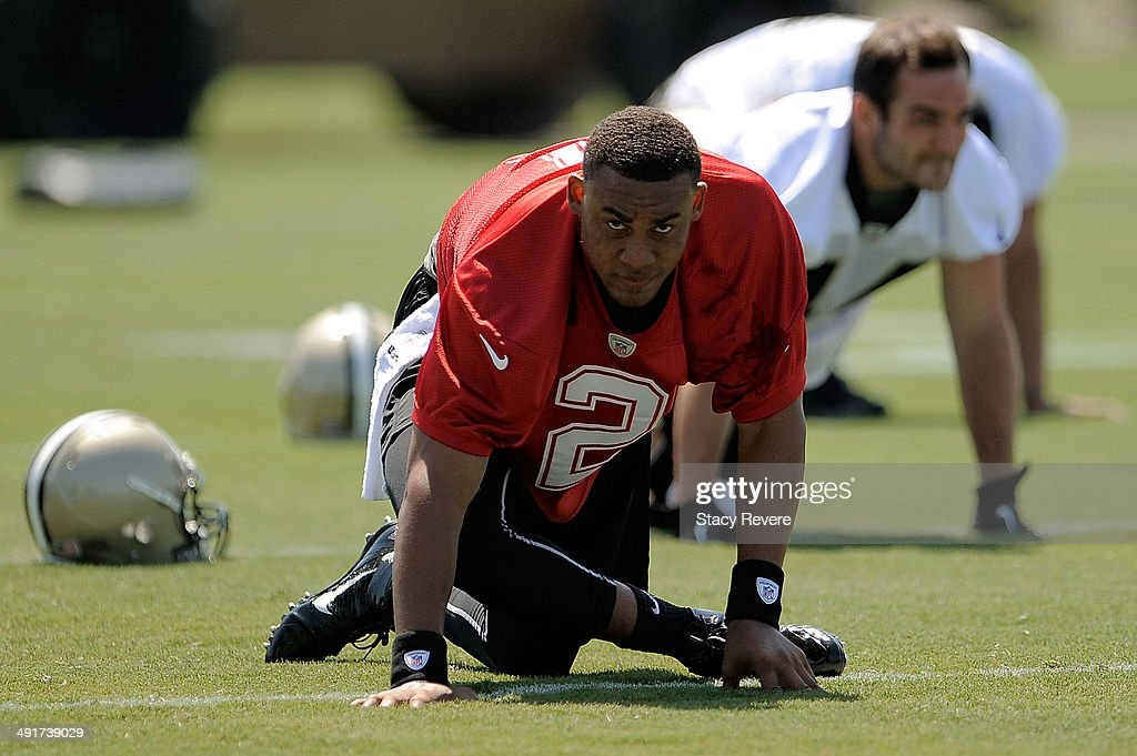 <a gi-track='captionPersonalityLinkClicked' href=/galleries/search?phrase=Jordan+Jefferson&family=editorial&specificpeople=5616202 ng-click='$event.stopPropagation()'>Jordan Jefferson</a> #2 participates in drills during the New Orleans Saints rookie minicamp at the Saints training facility on May 17, 2014 in Metairie, Louisiana.