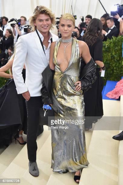 Jordan Kale Barrett and Sofia Richie attend the 'Rei Kawakubo/Comme des Garcons Art Of The InBetween' Costume Institute Gala at Metropolitan Museum...
