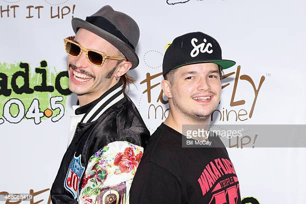 Jordan Kelley and Jason Huber of Cherub pose at the 5th Annual 1045 Summer Block Party at the Piazza At Schmidt's May 3 2014 in Philadelphia...