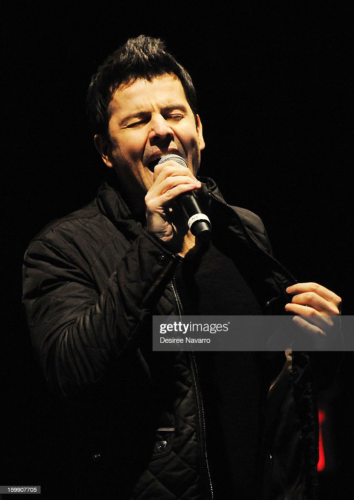 Jordan Knight of The Kids On The Block performs during the New Kids On The Block Special Announcement at Irving Plaza on January 22, 2013 in New York City.