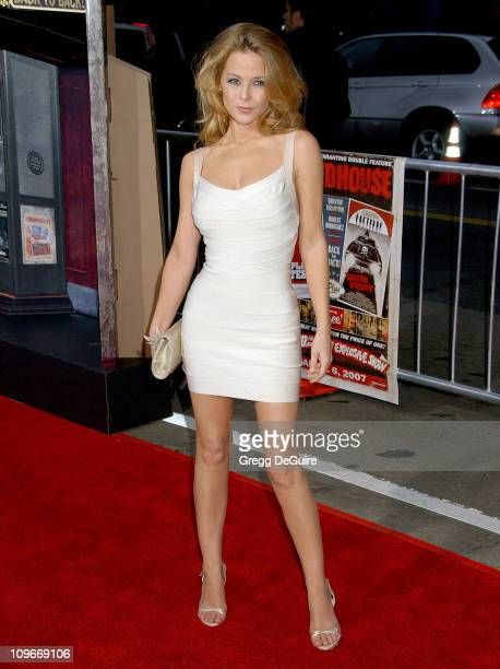Jordan Ladd during 'Grindhouse' Los Angeles Premiere Arrivals at The Orpheum Theatre in Los Angeles California United States
