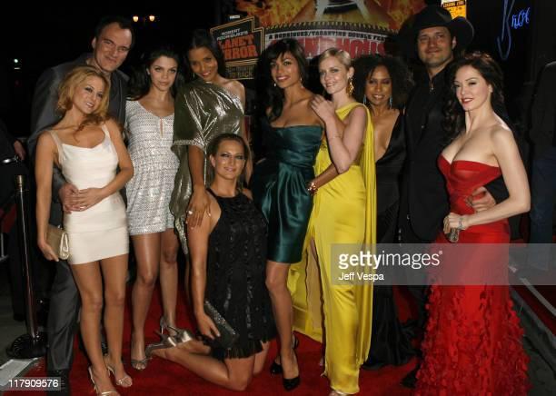 Jordan Ladd Quentin Tarantino Vanessa Ferlito Sydney Tamiia Poitier Zoe Bell Rosario Dawson Marley Shelton Tracie Thoms Robert Rodriguez and Rose...
