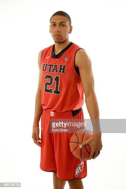 Jordan Loveridge of Utah poses for a portrait during the PAC12 Men's Basketball Media Day on October 17 2013 in San Francisco California
