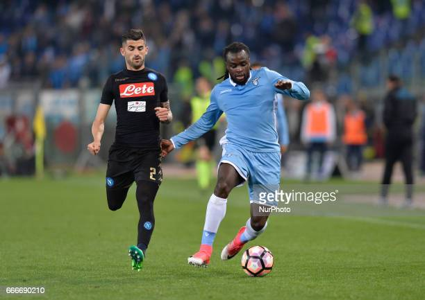 Jordan Lukaku during the Italian Serie A football match between SS Lazio and AC Napoli at the Olympic Stadium in Rome on april 09 2017