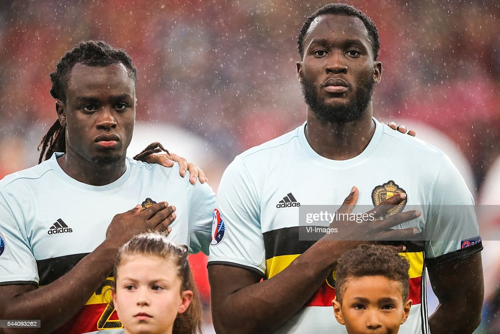 Jordan Lukaku of Belgium, Romelu Lukaku of Belgium during the UEFA EURO 2016 quarter final match between Wales and Belgium on July 2, 2016 at the Stade Pierre Mauroy in Lille, France.