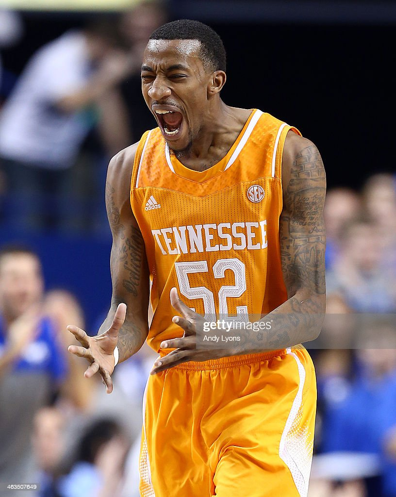 <a gi-track='captionPersonalityLinkClicked' href=/galleries/search?phrase=Jordan+McRae&family=editorial&specificpeople=7362664 ng-click='$event.stopPropagation()'>Jordan McRae</a> #52 of the Tennessee Volunteers screams in frustration after a turnover during the game against the Kentucky Wildcats at Rupp Arena on January 18, 2014 in Lexington, Kentucky.
