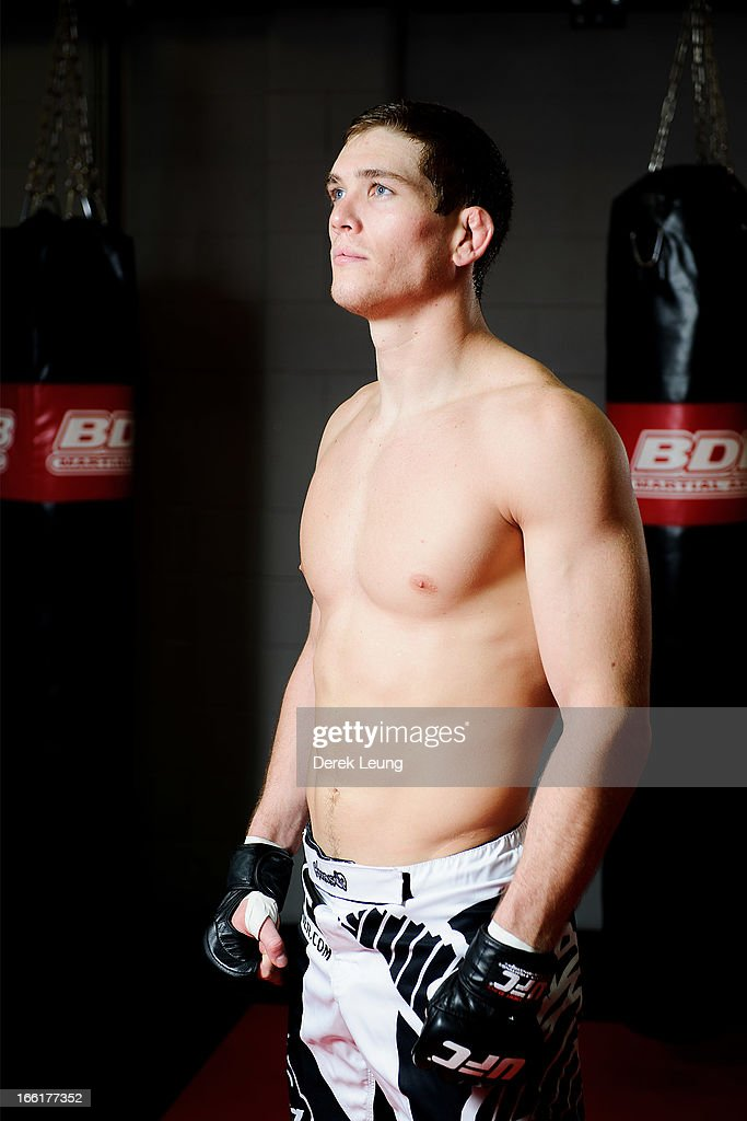 Jordan Mein poses for a portrait after a public training session on April 9, 2013 at Champion's Creed Gym in Calgary, Alberta, Canada.