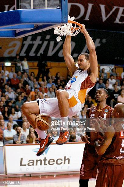 Jordan Morgan of Acea in action during the LegaBasket A1 basketball match between Umana Venezia and Acea Roma at Palasport Taliercio on October 19...