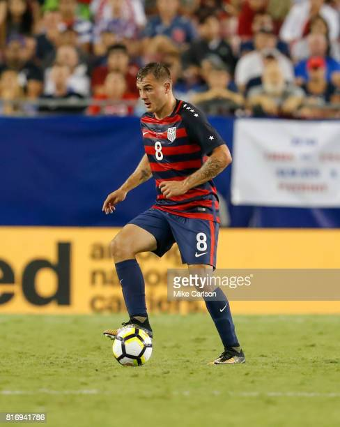 Jordan Morris of the United States against Martinique during the second half of the CONCACAF Group B match at Raymond James Stadium on July 12 2017...