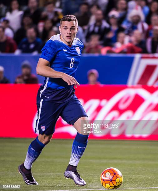 Jordan Morris of the United States breaks in on goal during the International Soccer Friendly match between the United States and Canada at the...