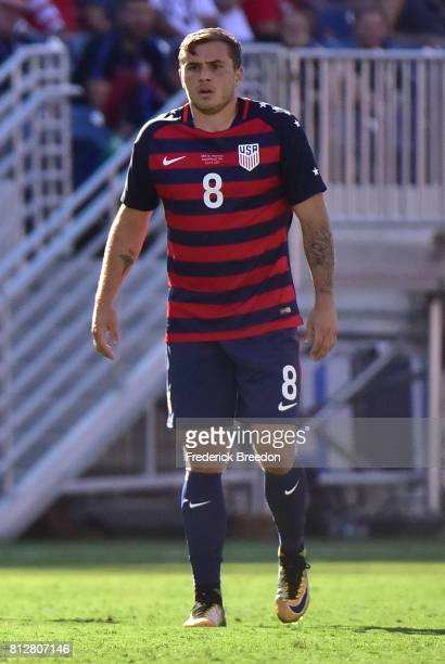 Jordan Morris of USA plays against Panama during a CONCACAF Gold Cup Soccer match at Nissan Stadium on July 8 2017 in Nashville Tennessee