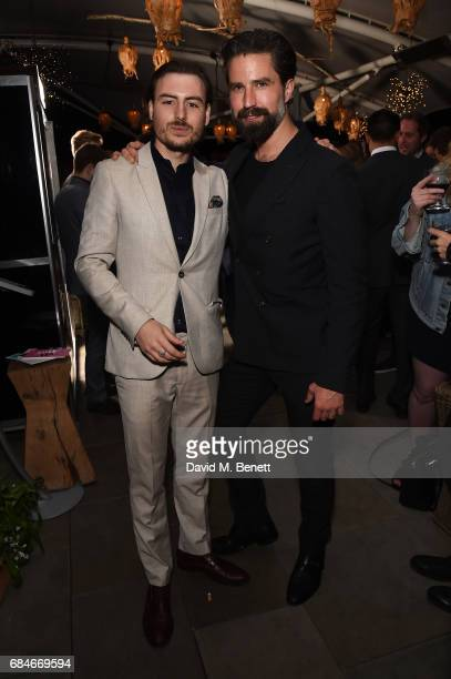 Jordan Murphy Doidge and Jack Guinness attend the Gentleman's Journal Bermuda 35th America's Cup summer party hosted by Jack Guinness at Ham Yard...