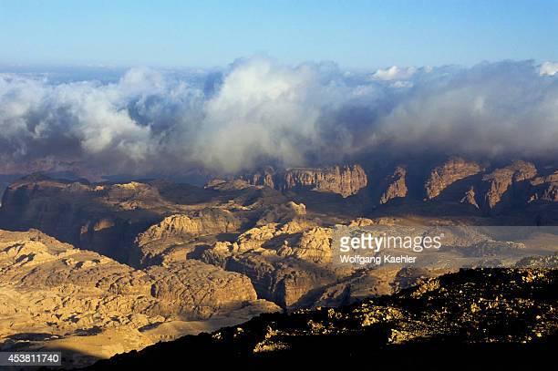 Jordan Near Wadi MUSA View Of Wadi Araba Rift Valley Fog
