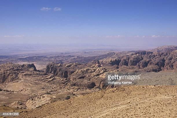 Jordan Near Wadi MUSA View Of Wadi Araba Rift Valley