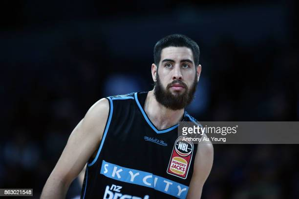 Jordan Ngatai of the Breakers looks on during the round three NBL match between the New Zealand Breakers and the Sydney Kings at Spark Arena on...