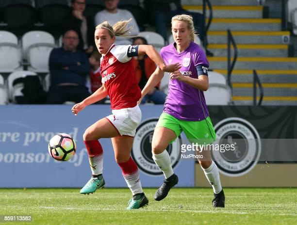 LR Jordan Nobbs of Arsenal and Millie Turner of Bristol City Women during Women's Super League 1match between Arsenal against Bristol City Women at...