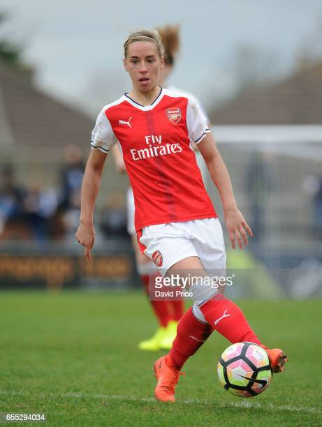 Jordan Nobbs of Arsenal during the match between Arsenal Ladies and Tottenham Hotspur Ladies on March 19 2017 in Borehamwood England
