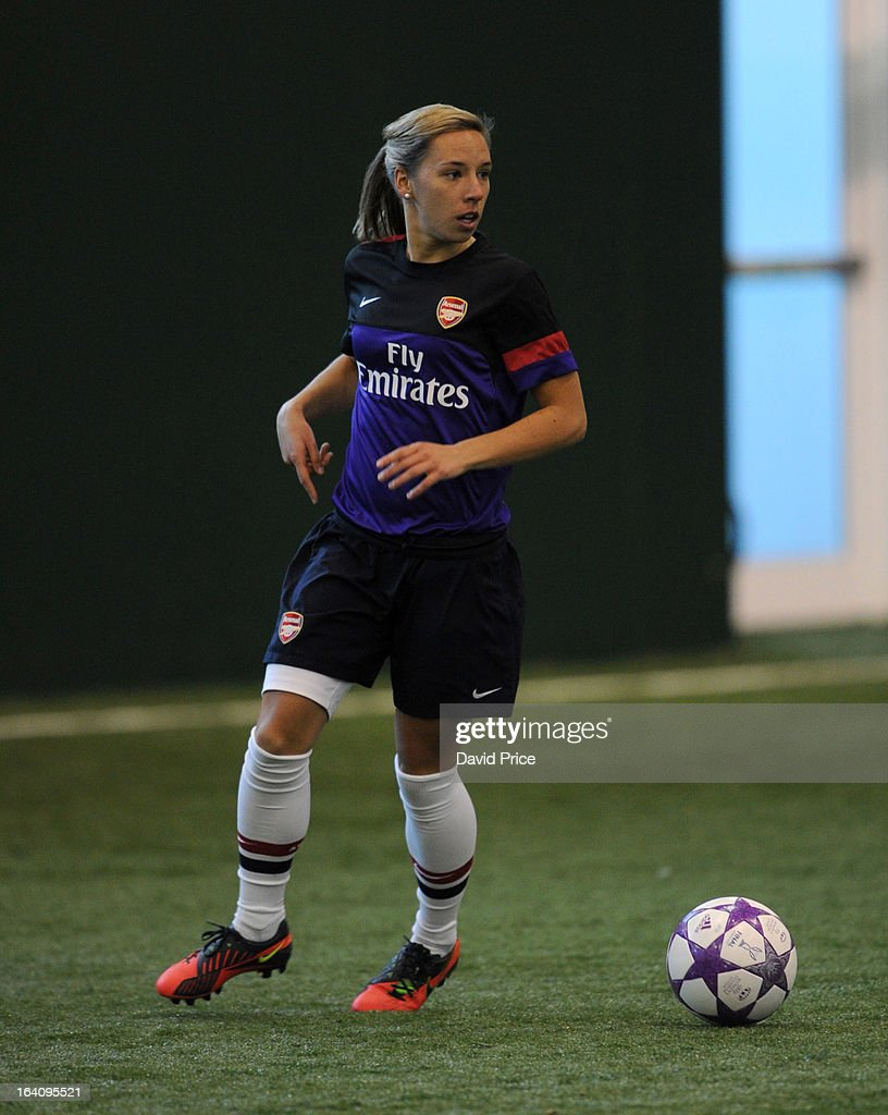 Jordan Nobbs of Arsenal Ladies during an Arsenal Ladies Training Session at Arsenal Training Ground on March 19, 2013 in St. Albans, Hertfordshire, England.