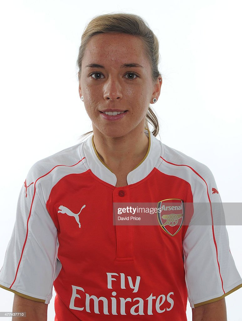 Jordan Nobbs of Arsenal Ladies poses at London Colney on March 24, 2015 in St Albans, England.