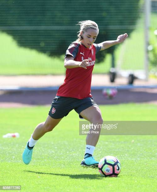 Jordan Nobbs of Arsenal Women during an Arsenal Women Training Session at London Colney on August 25 2017 in St Albans England