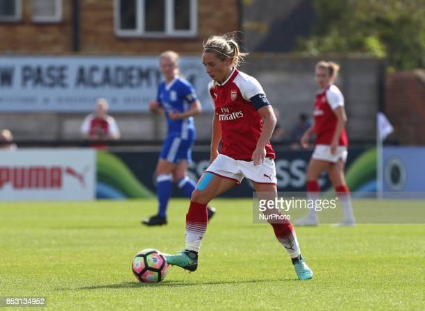 Jordan Nobbs of Arsenal Women during Women's Super League 1 match between Arsenal Women FC against Birmingham Ladies at Borehamwood Football Club...