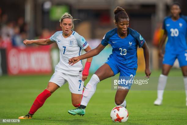 Jordan Nobbs of England women Grace Geyoro of France women during the UEFA WEURO 2017 quarter finale match between England and France at The...