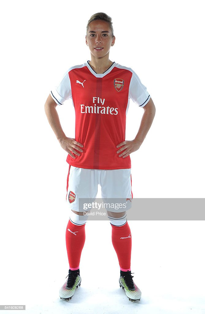 Jordan Nobbs of the Arsenal Ladies during their photocall at London Colney on June 16, 2016 in St Albans, England.