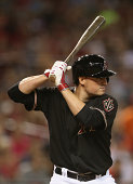 Jordan Pacheco of the Arizona Diamondbacks at bat during the MLB game against the Pittsburgh Pirates at Chase Field on August 2 2014 in Phoenix...