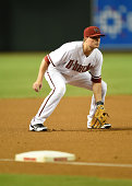 Jordan Pacheco of the Arizona Diamondbacks gets ready to make a play against the Pittsburgh Pirates at Chase Field on July 31 2014 in Phoenix Arizona