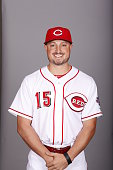 Jordan Pacheco of the Cincinnati Reds poses during Photo Day on Wednesday February 24 2016 at Goodyear Ballpark in Goodyear Arizona
