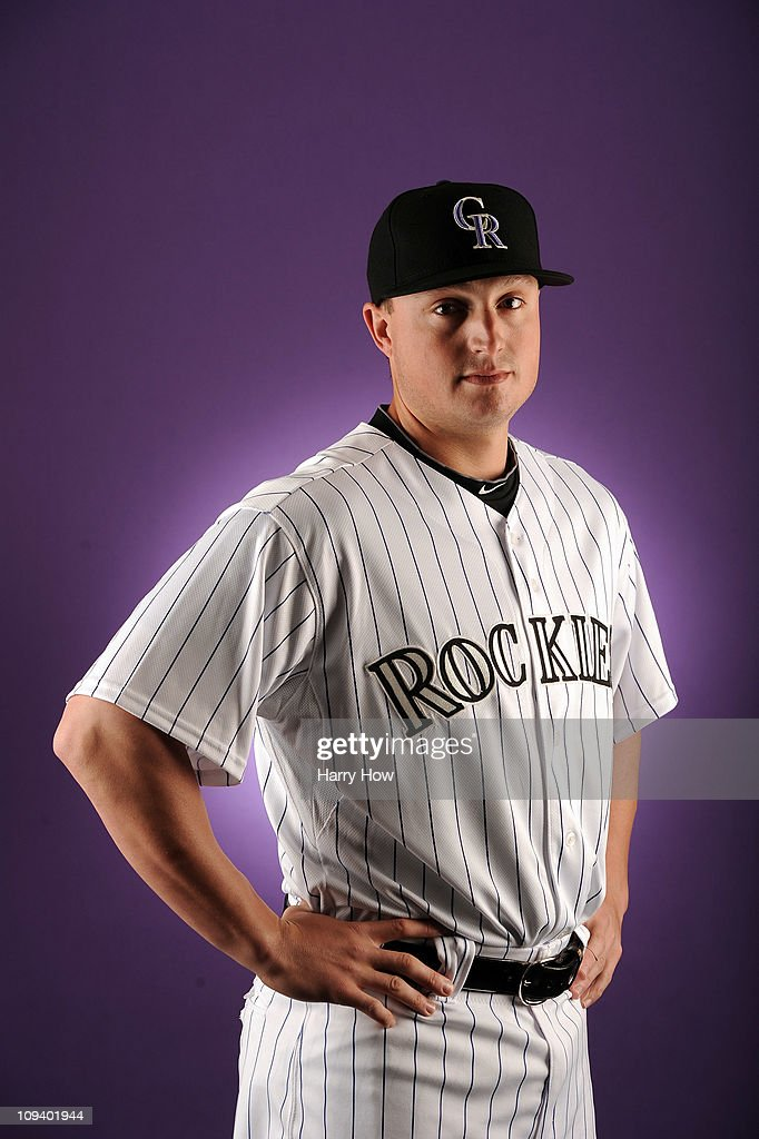 Jordan Pacheco #58 of the Colorado Rockies poses for a portrait during photo day at the Salt River Fields at Talking Stick on February 24, 2011 in Scottsdale, Arizona.