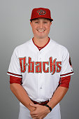 Jordan Pacheco the Arizona Diamondbacks poses during Photo Day on Sunday March 1 2015 at Salt River Fields at Talking Stick in Scottsdale Arizona