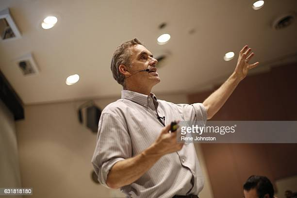 TORONTO ON January 10 2017 Jordan Peterson during his lecture at UofT Peterson is the professor at the centre of a media storm because of his public...