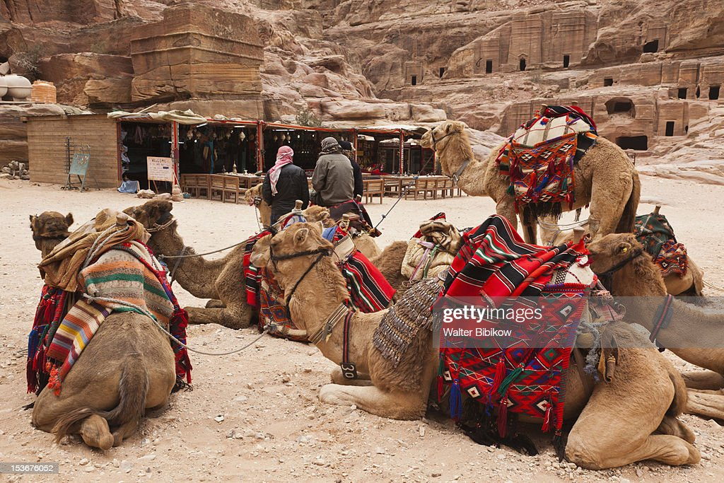 Jordan, Petra-Wadi Musa, Nabatean City of Petra : Stock Photo