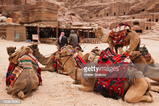 Jordan, Petra-Wadi Musa, Nabatean City of Petra : Stock-Foto