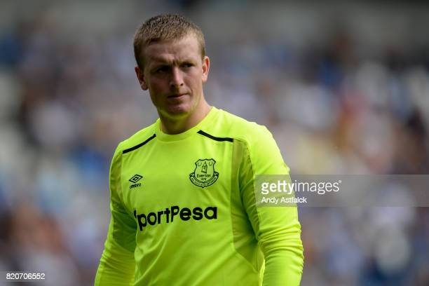 Jordan Pickford from Everton during the PreSeason Friendly between KRC Genk and Everton at Cristal Arena on July 22 2017 in Genk Belgium