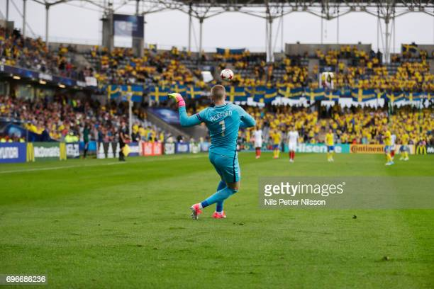 Jordan Pickford of England during the UEFA European Under21 Championship match between Sweden and England at Arena Kielce on June 16 2017 in Kielce...