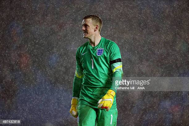 Jordan Pickford of England U21 during the UEFA U21 Championship Qualifier between England and Switzerland at Amex Stadium on November 16 2015 in...