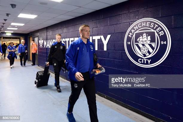 Jordan Pickford of Everton before the Premier League match between Manchester City and Everton at Etihad Stadium on August 21 2017 in Manchester...