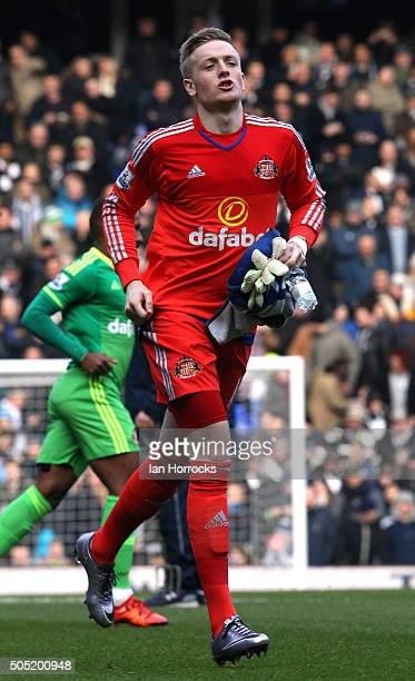 Jordan Pickford of Sunderland during the Barclays Premier League Match between Tottenham Hotspur and Sunderland at White Hart Lane on January 16 2016...