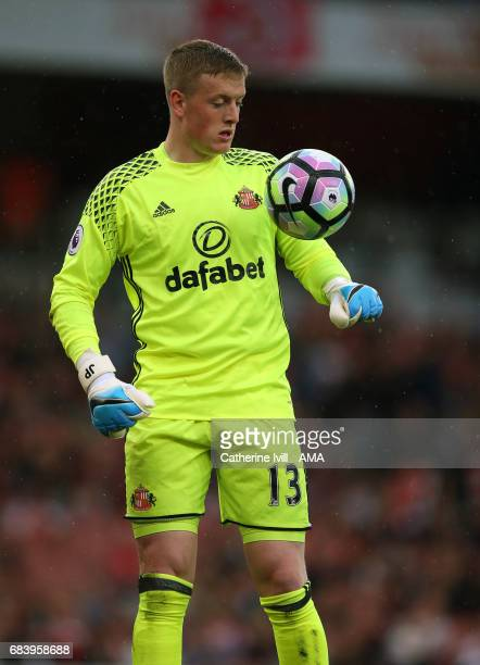 Jordan Pickford of Sunderland during the Premier League match between Arsenal and Sunderland at Emirates Stadium on May 16 2017 in London England